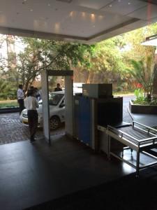 Metal detector at the hotel
