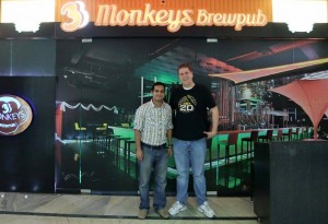 In front of 3 Monkey's