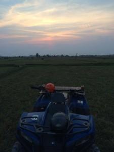 ATV after sunset