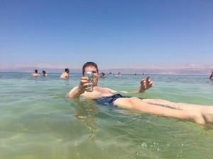 Me floating in Dead Sea