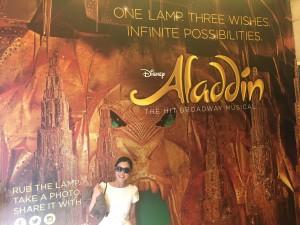 Asumi at the Aladdin entrance