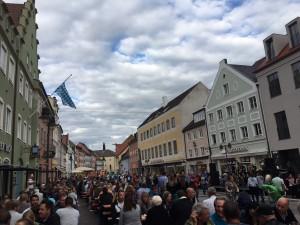 Festival in downtown Freising